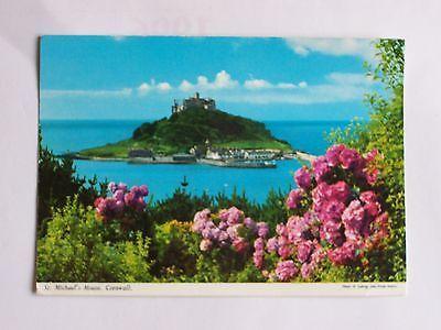 1960's Cornish Memorabilia, Postcard of St Michaels Mount, near Marazion.