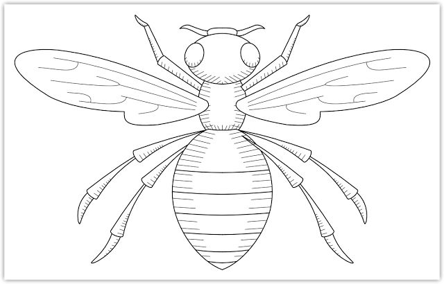 ≗ The Bee's Reverie ≗ bee free hand embroidery pattern