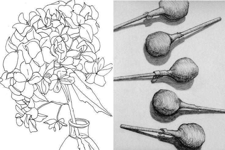 Blind Contour Line Drawing Lesson Plan : Best images about line drawings contour cross