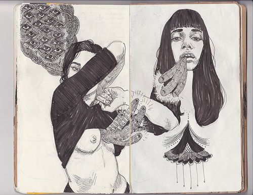 art journal pages 63-64 | Patricia Grullon | Flickr