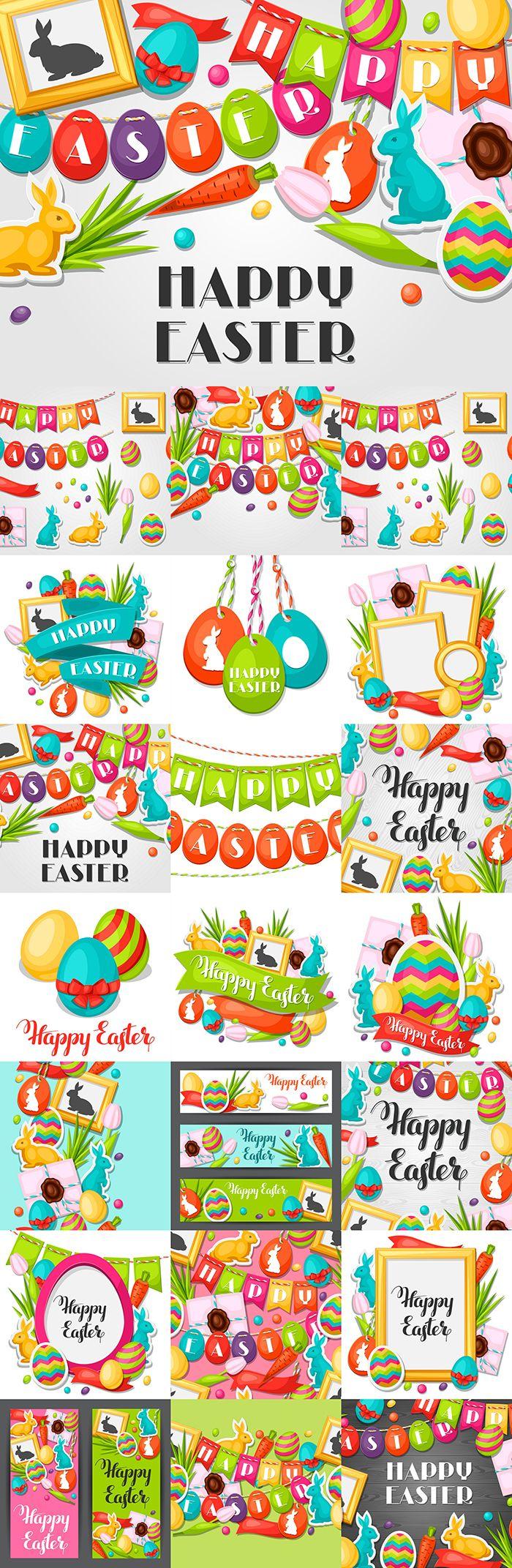 Блог Колибри: Happy Easter photo frame with decorative objects, ...