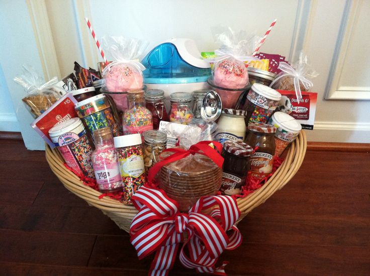Ice Cream Auction Basket - Love this selection of items