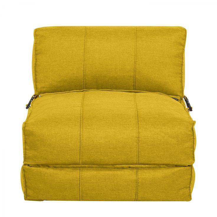 Schlafsessel Caneva - Webstoff - Gelb
