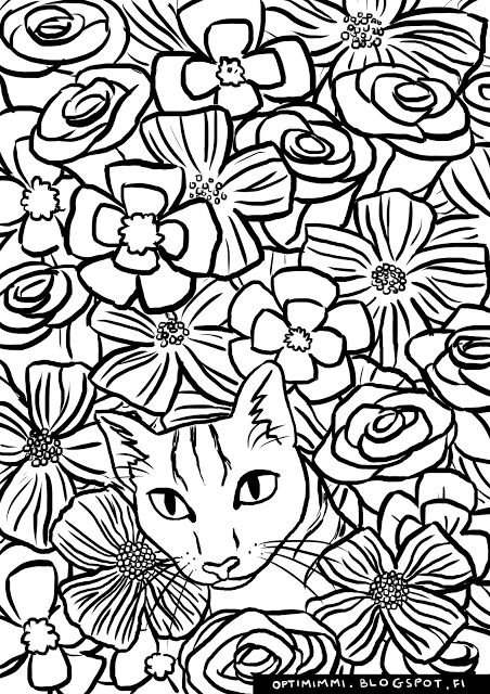 cat this image can be printed as a coloring page up to the paper - A Coloring Page