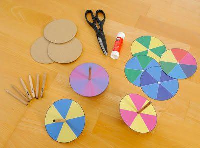 materialwiese: Farbkreisel zum Selbermachen