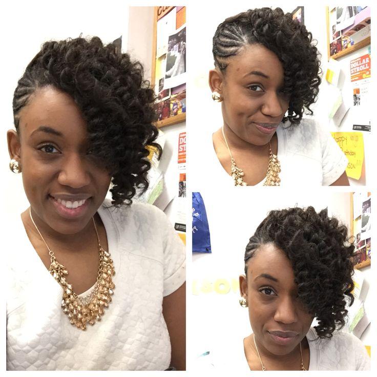 Strange 1000 Ideas About Side Cornrows On Pinterest Cornrow Braids And Short Hairstyles For Black Women Fulllsitofus