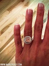 Monogram Ring - Sterling Silver with Rope Trim