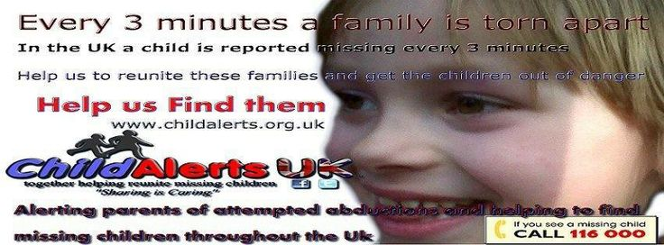 Our mission is to have millions of people in the Uk sharing the alerts for every missing child and vulnerable adult reported. The aim is to have them found safe and well as quickly as possible x