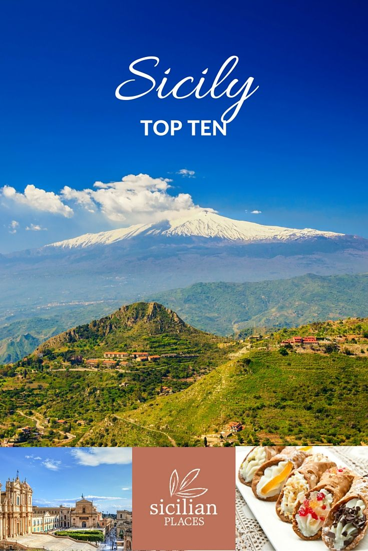 Our top ten things to see, do and eat in Sicily.  Image credit:  Anna Lurye | Dalibor Kastratovic | lsantilli | Shutterstock