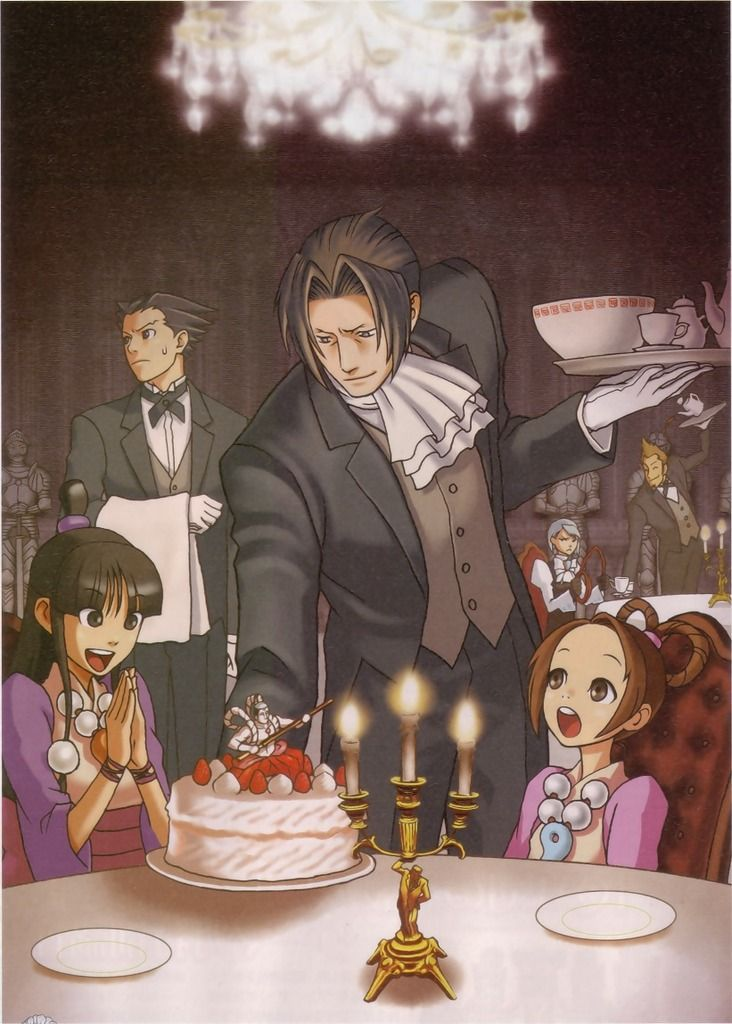 Ace Attorney. Me: Waiter Edgeworth, may i order a cake :).