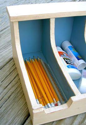 DIY Flatware Storage Box #storage #diy