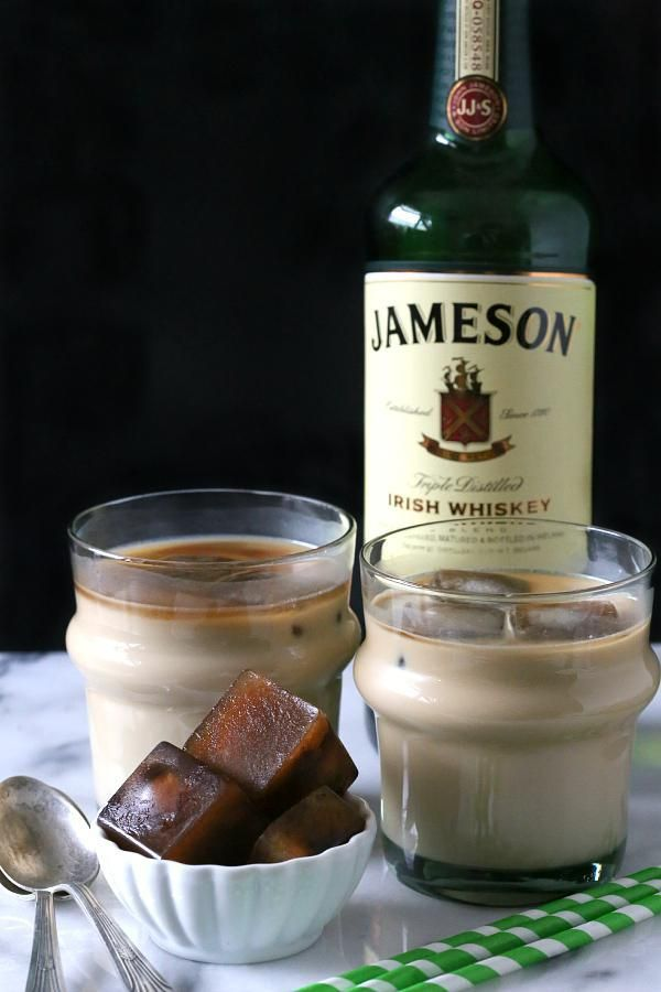 If you like iced coffee this is the cocktail for you! Traditional Irish coffee flavor mixed with coffee ice cubes for your sipping flavor.