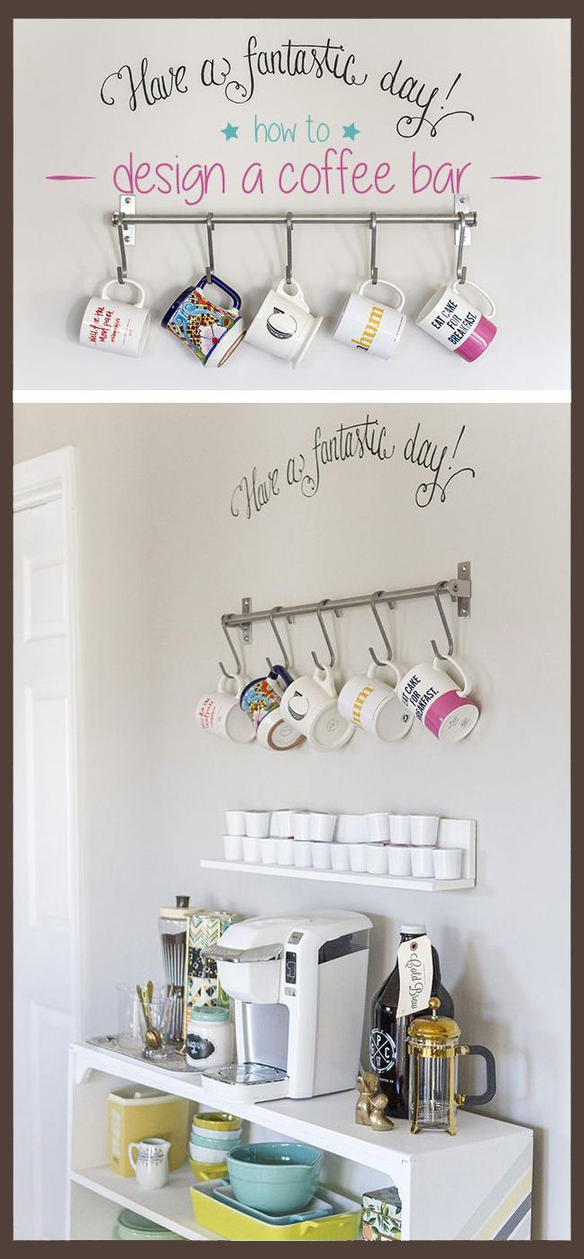 to add flare to your small space. Design an at-home coffee bar in your ...