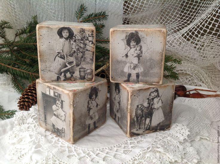 """Купить Кубики""""Детские фото"""" - комбинированный, кубики, кубики деревянные, кубики декупаж, для дома и интерьера, для детей"""