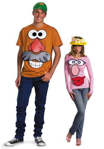 Mr and Mrs Potato Head couple costume kit #Halloween