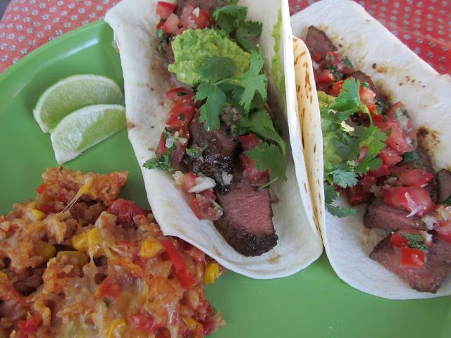 Recipe: Carne Asada tacos with grilled flat iron steak
