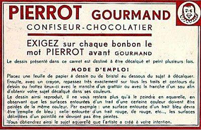 coloriage et décalcomanie Pierrot Gourmand