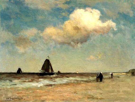 Hendrik Johannes 'JH' Weissenbruchstraat (1824-1903)Cara de la playa de Scheveningen. Para una imagen más grande hacer clic en la imagen. (Coll. Simonis y Buunk Ede)