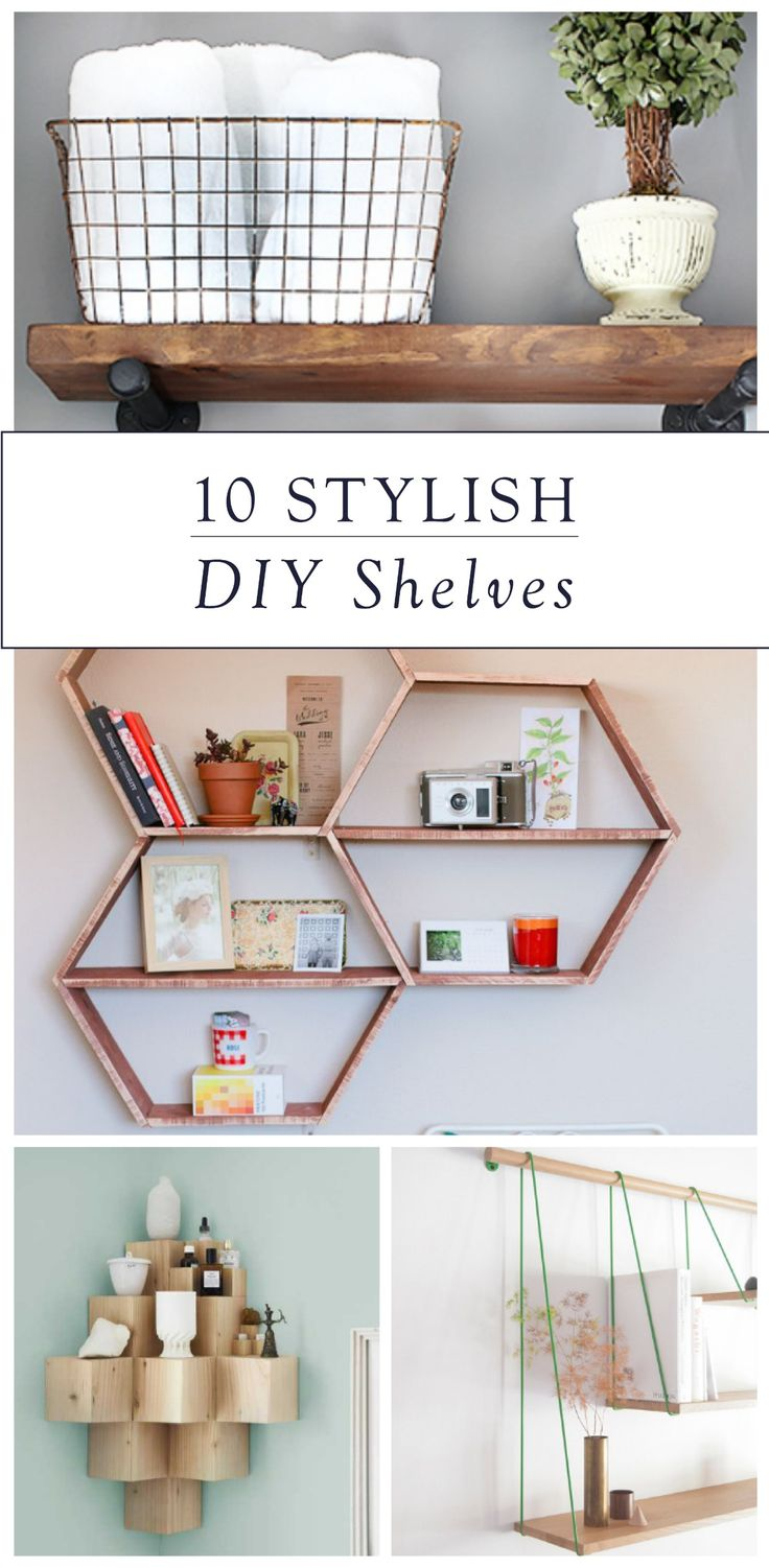 Update any room of your house with one of these 10 stylish DIY shelves. Whether you like earthy, modern, or classic decor, you'll find a shelving system that fits your personality and style.