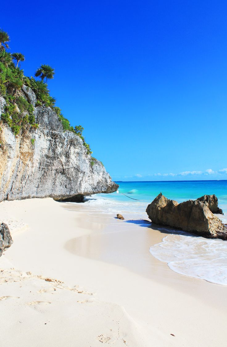 One of the best beaches I've ever visited, in Tulum, Mexico!