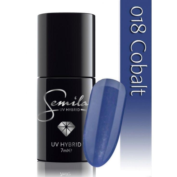 Ημιμόνιμο μανό Semilac - 018 Cobalt 7ml - Semilac | Προϊόντα Μανικιούρ - Πεντικιούρ Semilac & Ημιμόνιμα.