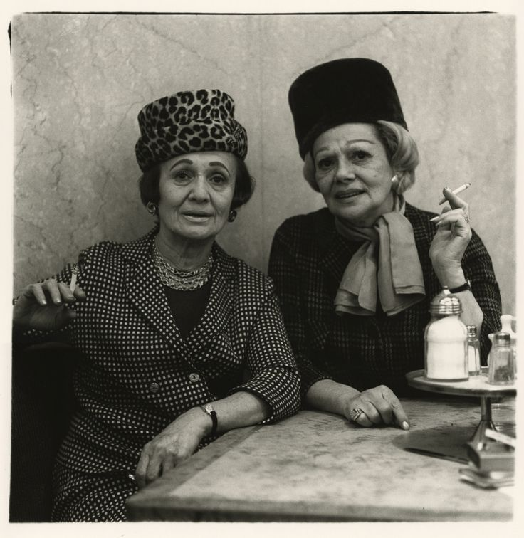 Two ladies at the automat, N.Y.C., 1966 / by Diane Arbus