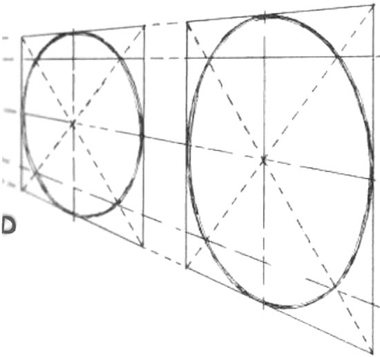 Drawing Circles in Perspective : How to Draw Circles and Ellipses in Correct Perspective