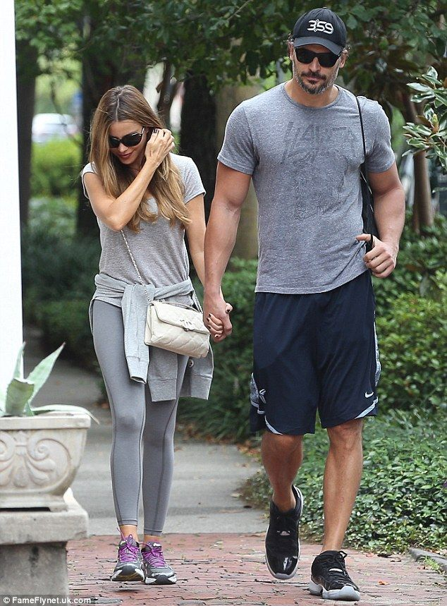 They can't get enough: Sofia and Joe arrived to the outdoor café holding hands following an idyllic stroll through the historic city