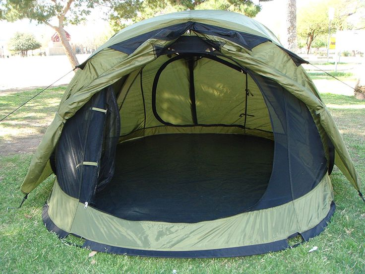 4-Person Pop Up Tent With Rain Fly | Quick Set | Fits Queen Mattress