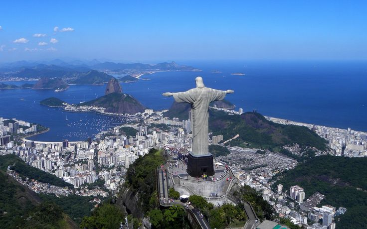 wonders of the world | Statue of Christ the Redeemer of Brazil was finished in around 1931 ...