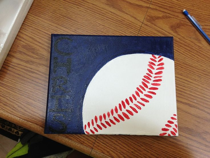 easy to paint cross on canvas | Baseball canvas ⚾