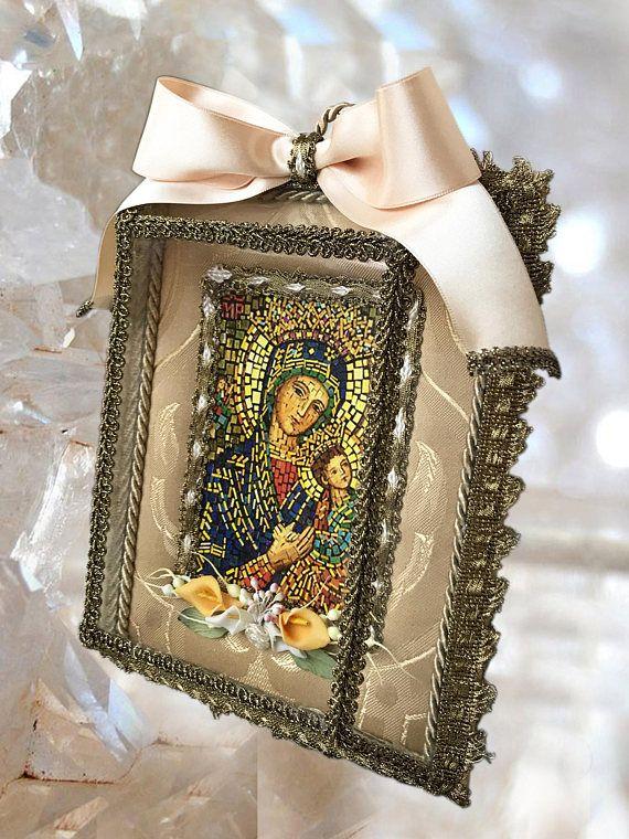 UNIQUE SHRINE Perpetual Help Handmade Our Lady Altar Catholic