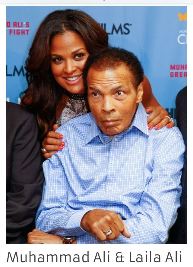 Father & daughter athletes: Muhammed & Laila Ali