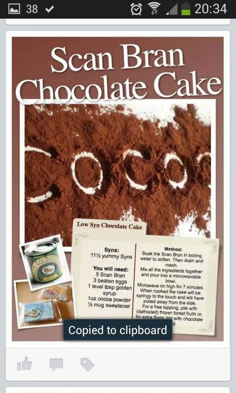 Scan bran chocolate cake