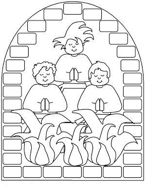 ME ABURRE LA RELIGIÓN: DIBUJOS PARA COLOREAR. SADRAC, MESAC Y ABEDNEGO