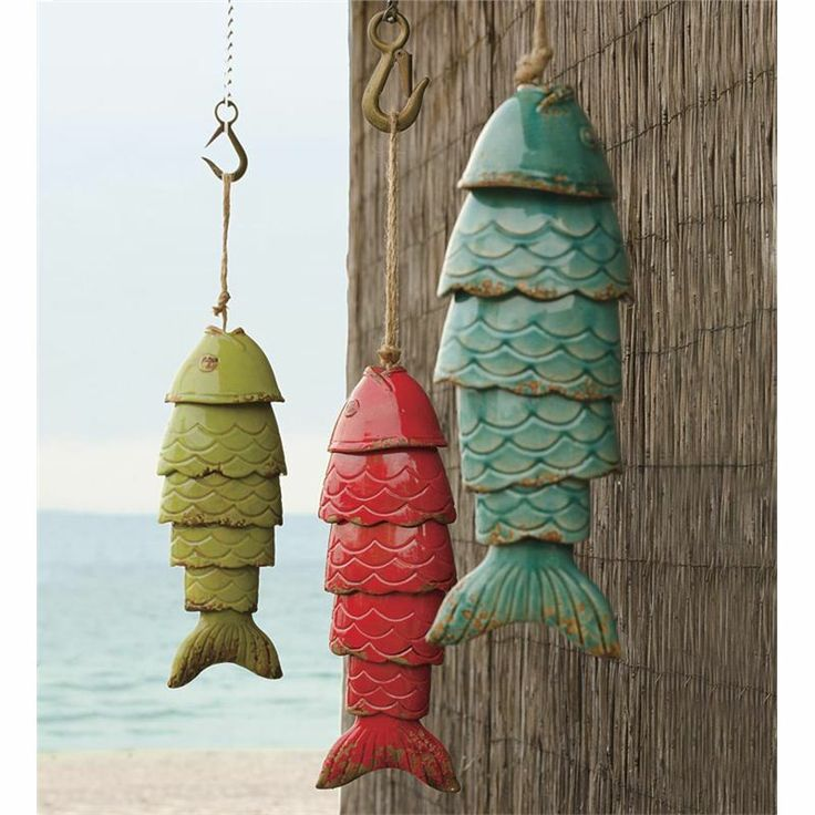 Chimes wind chimes pinterest for Colored porcelain koi fish wind chime
