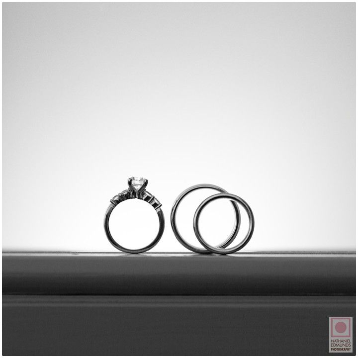 Simple and classic http://nathanieledmunds.com #rings #wedding #bride #groom #blackandwhite #photography #sleek
