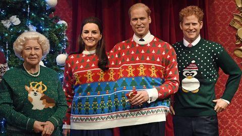 Ilyen ciki karácsonyi pulcsiban Katalin hercegné és Vilmos herceg