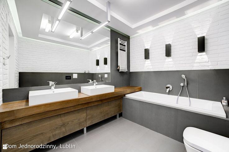 Łazienka styl Minimalistyczny - zdjęcie od Auraprojekt - Łazienka - Styl Minimalistyczny - Auraprojekt