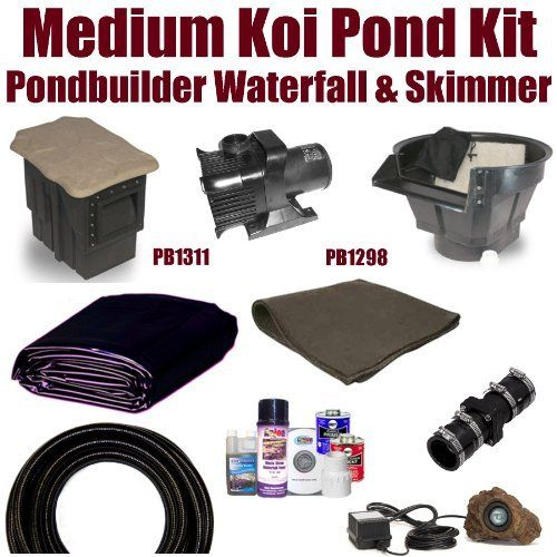 "15 x 25 Medium Koi Pond Kit 4,000 GPH Pump Pondbuilder 20"" Crystal Waterfall & Pondbuilder 8"" Crystal Skimmer MDP4 by Patriot. $1025.00. Ships FedEx Ground or Truck Freight - Additional Carrier Charges May Apply. 1½"" x 25' FreezeFlex PVC Hose, 1½"" Check Valve, (1) 20 Watt Rock Lights with 20 Watt Transformer, All Installation Hardware & Directions. Liftgate Service is Not Included. Contact Carrier For Liftgate Service Which Is An Additional $85.00. 15 x 25 EPDM Li..."