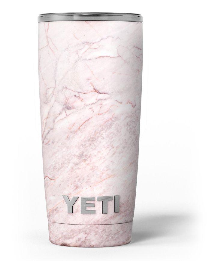 Pink Slate Marble Surface V7 Yeti Rambler Skin Kit from DesignSkinz
