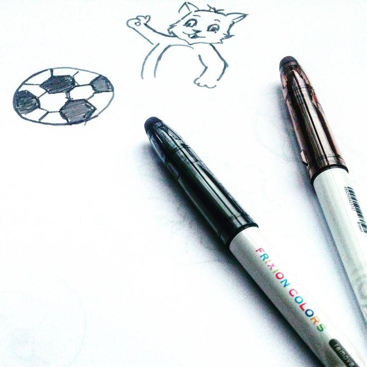Numai cu Frixion Colors! Nu-ți place ce ai desenat? Ștergi și desenezi din nou!