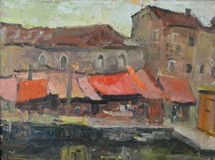Constantin Parhon – Piață la Chioggia