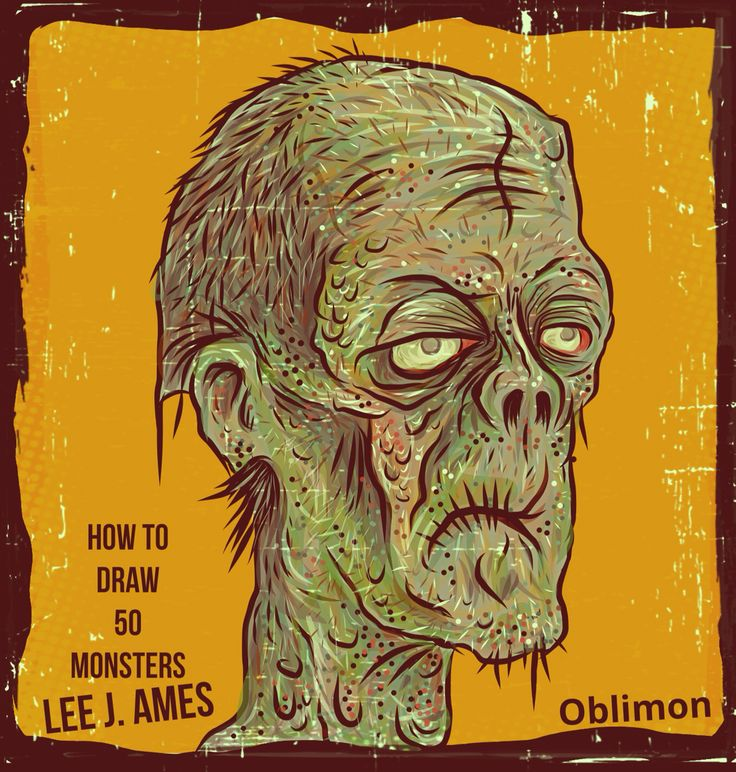 Adobe draw digital art sketchbook zombie from how to draw 50 monsters by Lee J Ames