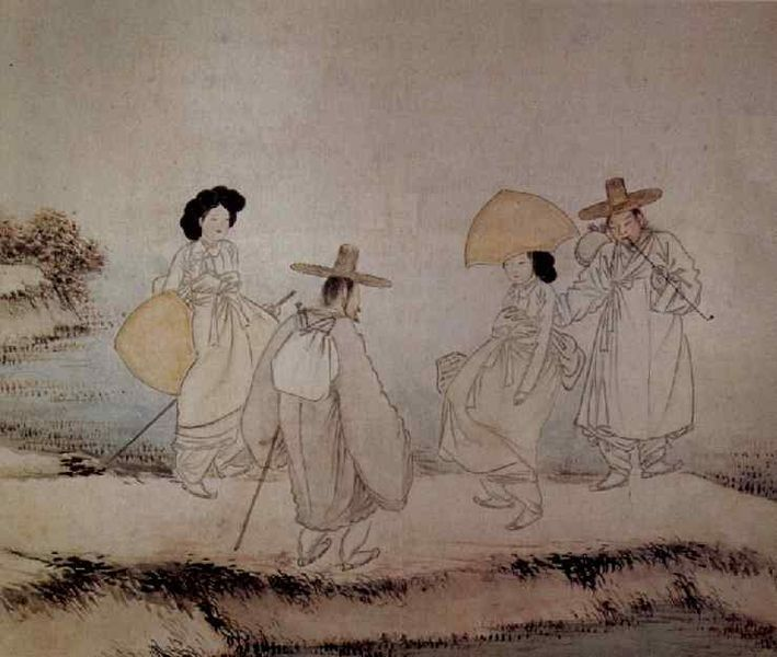 Korean Traditional art by Shin Yun-bok