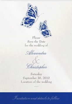 Save The Date Vintage Butterfly Wedding