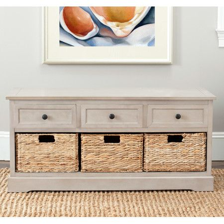 Milan Storage Bench in Grey