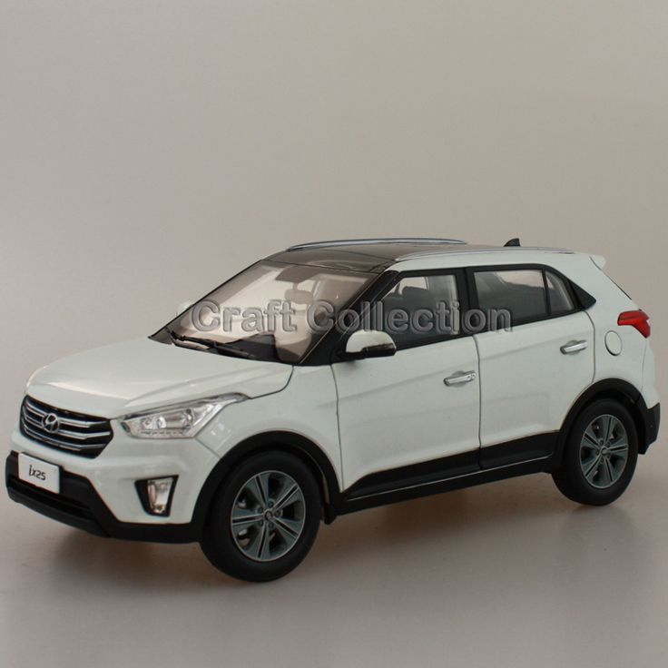 white 1 18 hyundai ix25 2015 compact suv diecast model car urban off road vehicle cross country. Black Bedroom Furniture Sets. Home Design Ideas