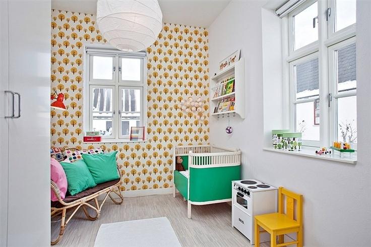 Papel de parede Kids room retro syle