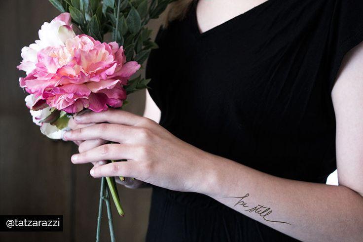 """rest"" and ""be still"" temporary tattoos from Tatzarazzi #peacetattoos #christiantattoos Arm tattoo placement"